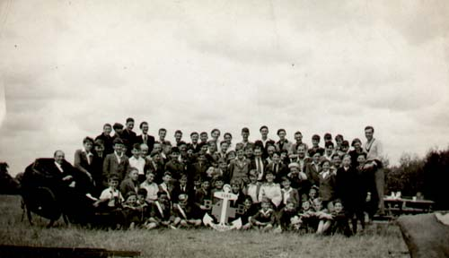 Camp group photo from the 1940s