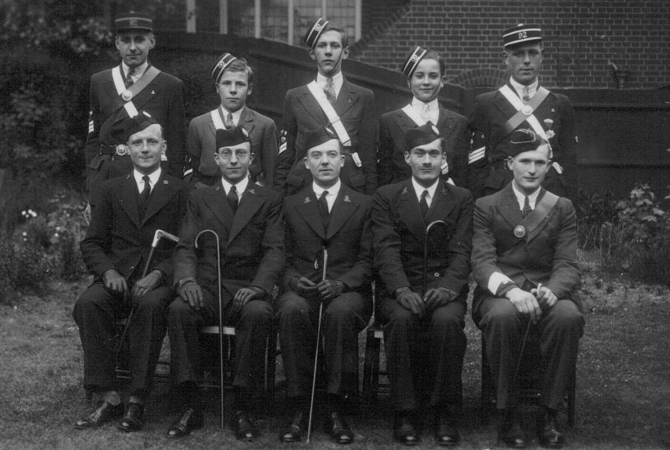 Officers and NCOs of the 92nd London 1933